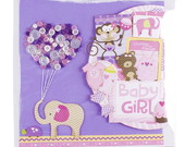 �LBUM SCRAPBOOK SAFARI BABY GIRL
