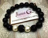 Black & Pearl FR Inspired Bracelet by JG