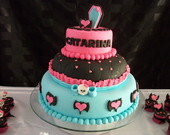 Bolo de Pasta Americana Monster High