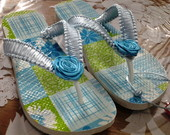 Havaianas Top Decorado Patchwork Azul