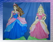 DISPLAY DE CH�O BARBIE CASTELO DIAMANTES