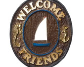 Placa Decorativa Welcome Friends N�utico