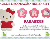 Molde Decora��o Hello Kitty