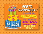 Convite Virtual Festa Surpresa
