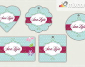 Kit Tags - Etiquetas Com Design Mod77