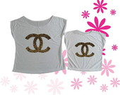 T-shirt Tal M�e, Tal Filha Chanel On�a
