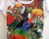 T-shirt Natureza costas rendada