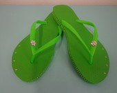 Havaianas Slim Strass Lateral GREEN NEON