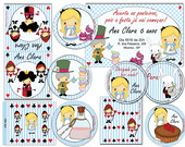 Kit Festa Alice no Pa�s das Marav  Pers