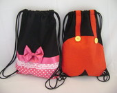 mochila mickey e minnie ( 35 x25 )