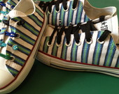 All Star pintado a m�o modelo Stripes