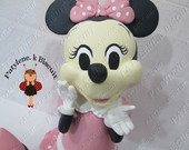 Decora�ao De Mesa Minnie Rosa Pronta Ent