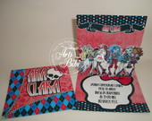 Convite Monster High - PopUp