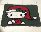 Tapete Croche Barbante Hello Kitty Noel