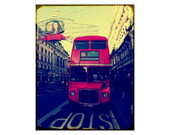 Placa MDF Retr�- London Bus - 638