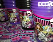 50 Baldinhos de 1litro - Monster High