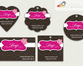 Kit Tags - Etiquetas Com Design Mod87