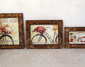 Kit 3 Quadros Antique R�stico
