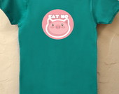 Camiseta Babylook Eat No Pig Verde