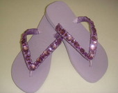 SANDALIA HAVAIANA  BORDADA COM CHITON