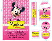 Kit Minnie Mouse Rosa Pink  (mn02)