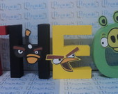 Letras Decorativas Angry Birds
