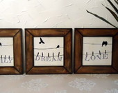Mod8. Kit 3 Quadros Birds