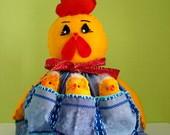 galinha peso de porta