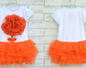 Vestido bal� big flower