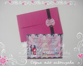 Convite BALADA PINK AND BLACK