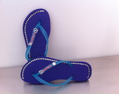 Chinelo com Strass na lateral
