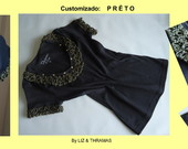 Baby-look: Pr�to Ouro - CAM-001