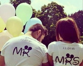 Camisetas Mr e Mrs