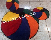 Kit tres pe�as Bola colorida infantil