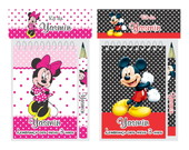 Bloquinho Mini L�pis Minnie E Mickey