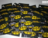 50 tags 5x5cm Batman