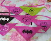 Kit com 10 Bandanas Pet Sortidas