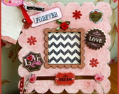 Mini �lbum Chipboard - Amor