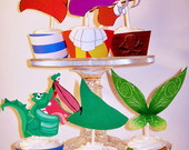 Wrappers para cupcakes do Peter Pan