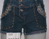 Short Jeans com Strass Spikes