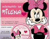 Kit Festa Minnie Rosa Personal Basic