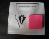 Porta Recado post it - Noivinhos