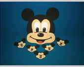 Kit do Mickey - Apliques e Painel