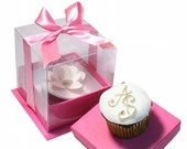 CAIXA CUPCAKES E MINI BOLO