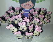 Colher decorada Minnie Rosa
