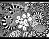 Zentangle 3 - Quadro Decorativo