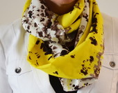 Snood Scarf Animal Print Amarelo