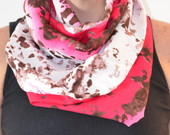 Snood Scarf Animal Print Rosa