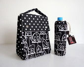 Lunch Bag + Porta Garrafa (Black Birds)