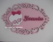 Placa monster high com nome